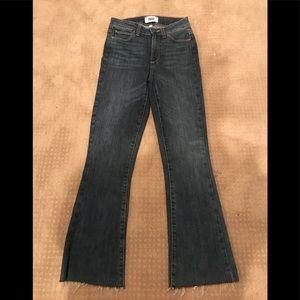 Paige flare crop jeans